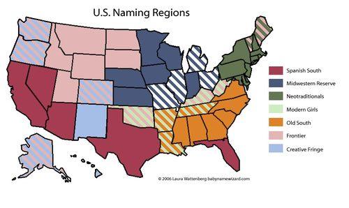 Naming regions